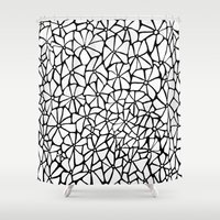 stone Shower Curtains featuring Stone by Aleishajune