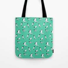 Bird Print - Turquoise Tote Bag