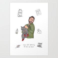 Charlie Kitten Mittens Art Print