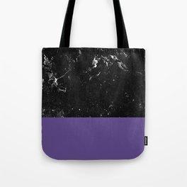 Ultra Violet Meets Black Marble #1 #decor #art #society6 Tote Bag