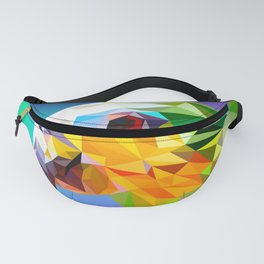 Triangular Abstract Parrot 2 Fanny Pack