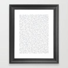 White Cubism Framed Art Print