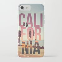 california iPhone & iPod Cases featuring CALIFORNIA by Kris James