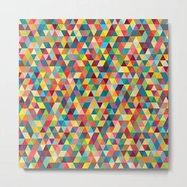 Colourful Tessellation Metal Print