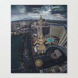 Las Vegas Strip aerial view Canvas Print