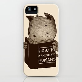 Cat Book How To Manipulate Humans iPhone Case