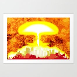 Atomic Bomb Heat Background Art Print