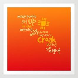 Croak-Orange Art Print