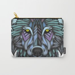 Ornate Wolf (Full Colored) Carry-All Pouch
