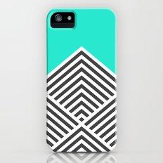 Minty Fresh Chevron iPhone (5, 5s) Slim Case