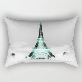 pariS Black & White + Mint Rectangular Pillow