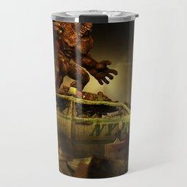 The Infernal Behemoth - Hell in The City - Fantasy  Artwork Travel Mug