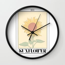 the sunflower tarot card Wall Clock