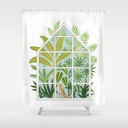 jungle greenhouse Shower Curtain