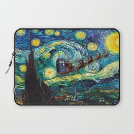Tardis Santa Starry Night Laptop Sleeve