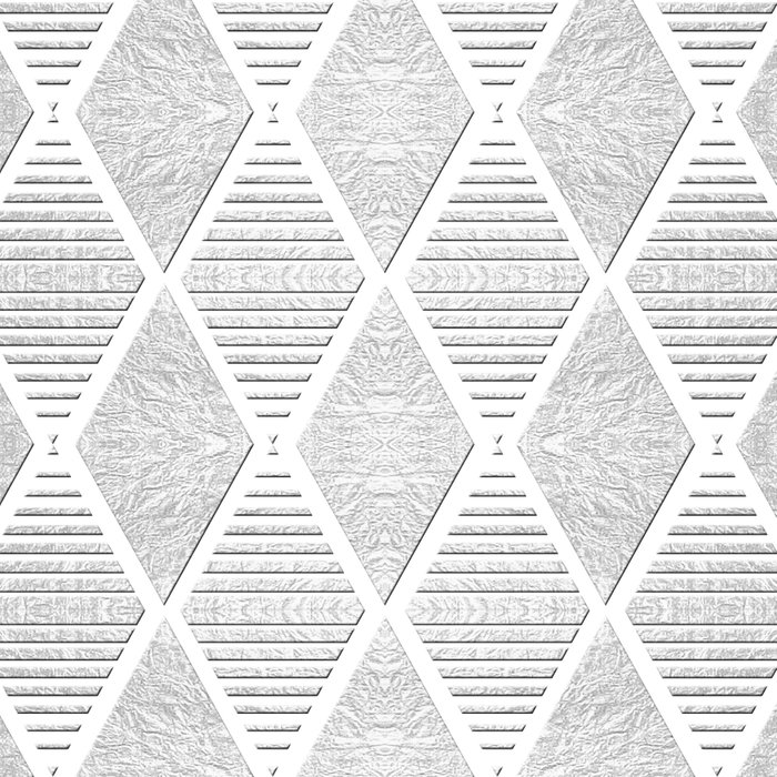 White and Silver Geometric Pattern Leggings