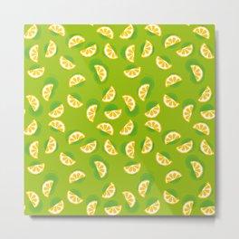 Citrus on green Metal Print