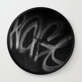 Street Graffiti in Black and White Wall Clock