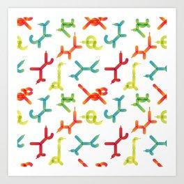 Balloon animals pattern #3 Art Print