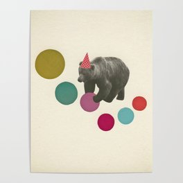 Birthday Bear Poster