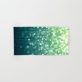 Spring Teal Green Sparkles Hand & Bath Towel