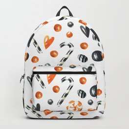 Happy halloween pattern with candies and lollipops Backpack