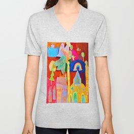 Rainbow Angel Unisex V-Neck