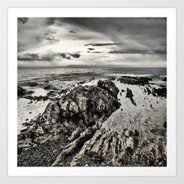 North Head Beach Rocks 1 Art Print