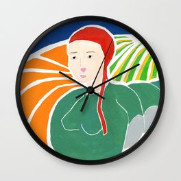 Fishy Girl Wall Clock