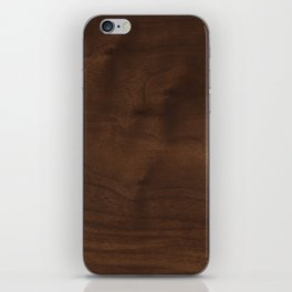 walnut textile natural wood iPhone Skin