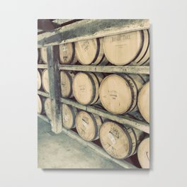 Kentucky Bourbon Barrels Color Photo Metal Print