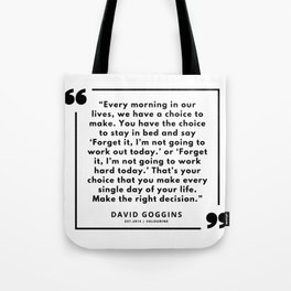39  David Goggins Quotes | 190901 Tote Bag