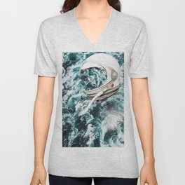 by the sea Unisex V-Neck