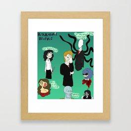 Bad Creepypasta Framed Art Print