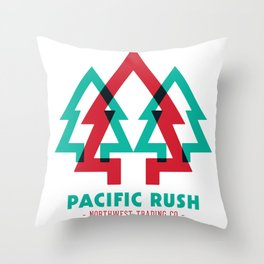 Pacific Rush Trees Throw Pillow