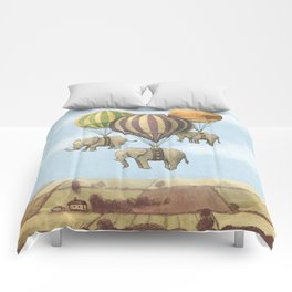 Flight of The Elephants - colour option Comforters