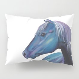 Blue Horse Pillow Sham