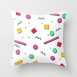 1980s retro pattern Throw Pillow
