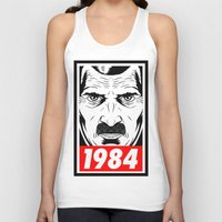 1984 Tank Tops featuring OBEY 1984 by MRCRMB