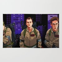 ghostbusters Area & Throw Rugs featuring Ghostbusters by Ryan Ketley