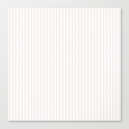 Small Alice Pink and White Mattress Ticking Stripes Canvas Print