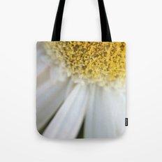 Yellow + White flower  Tote Bag