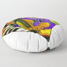 Mardi Gras Jazz Musical Heart Floor Pillow