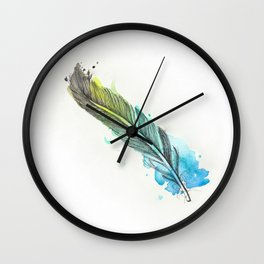 Fairy Feather Wall Clock