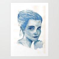 emma watson Art Prints featuring Emma Watson  by Daniel D'Souza