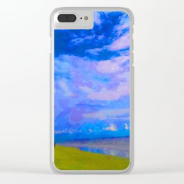 Horizon at Icacos Clear iPhone Case