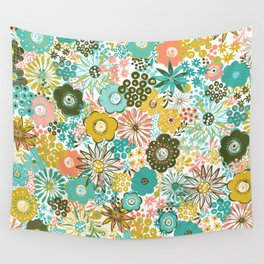 February Floral Wall Tapestry