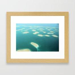 """Dubai - Island Group """"The World"""" Framed Art Print"""