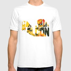 Captain Falcon White Mens Fitted Tee MEDIUM