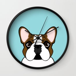 Frenchie - Fawn Pied Wall Clock